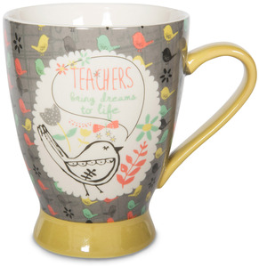 Teacher by Bloom by Amylee Weeks - 18 oz Birds & Flowers Mug