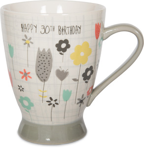 30th Birthday by Bloom by Amylee Weeks - 18 oz Flowers Mug
