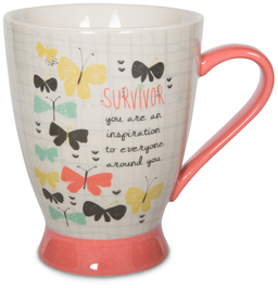 Survivor by Bloom by Amylee Weeks - 18 oz Butterfly Mug