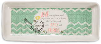 "Family and Friends by Bloom by Amylee Weeks - 11"" x 4.5"" Tray"
