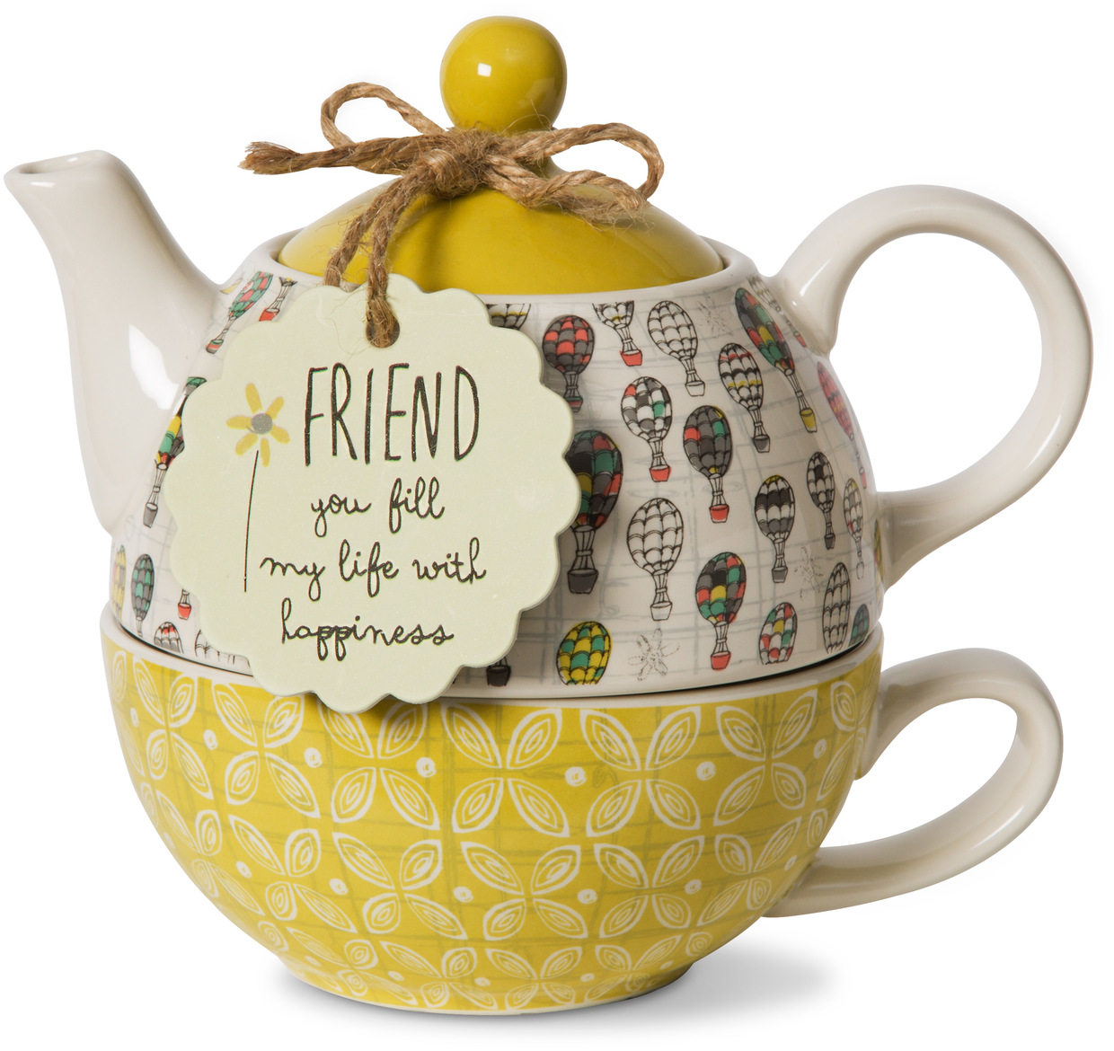 Friend by Bloom by Amylee Weeks - <em>Friend</em> - Teapot & Cup Combo -