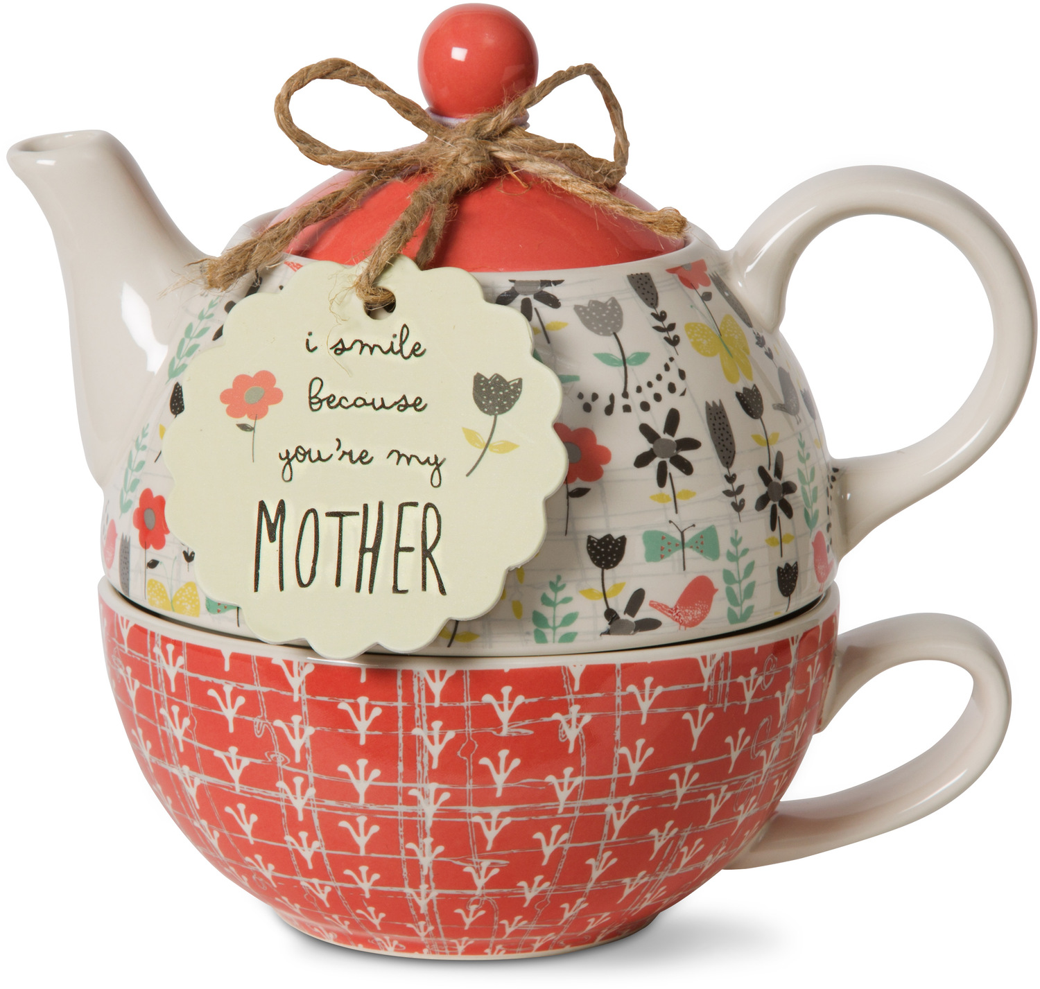 Mother by Bloom by Amylee Weeks - <em>Mother</em> - Teapot & Cup Combo -