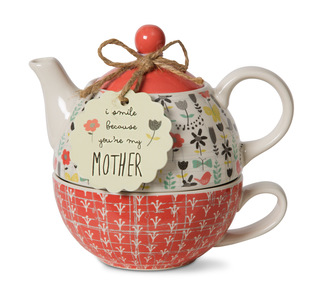 Mother by Bloom by Amylee Weeks - 15 oz. Teapot & 8 oz Cup