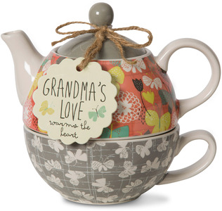 Grandma by Bloom by Amylee Weeks - 15 oz. Teapot & 8 oz Cup