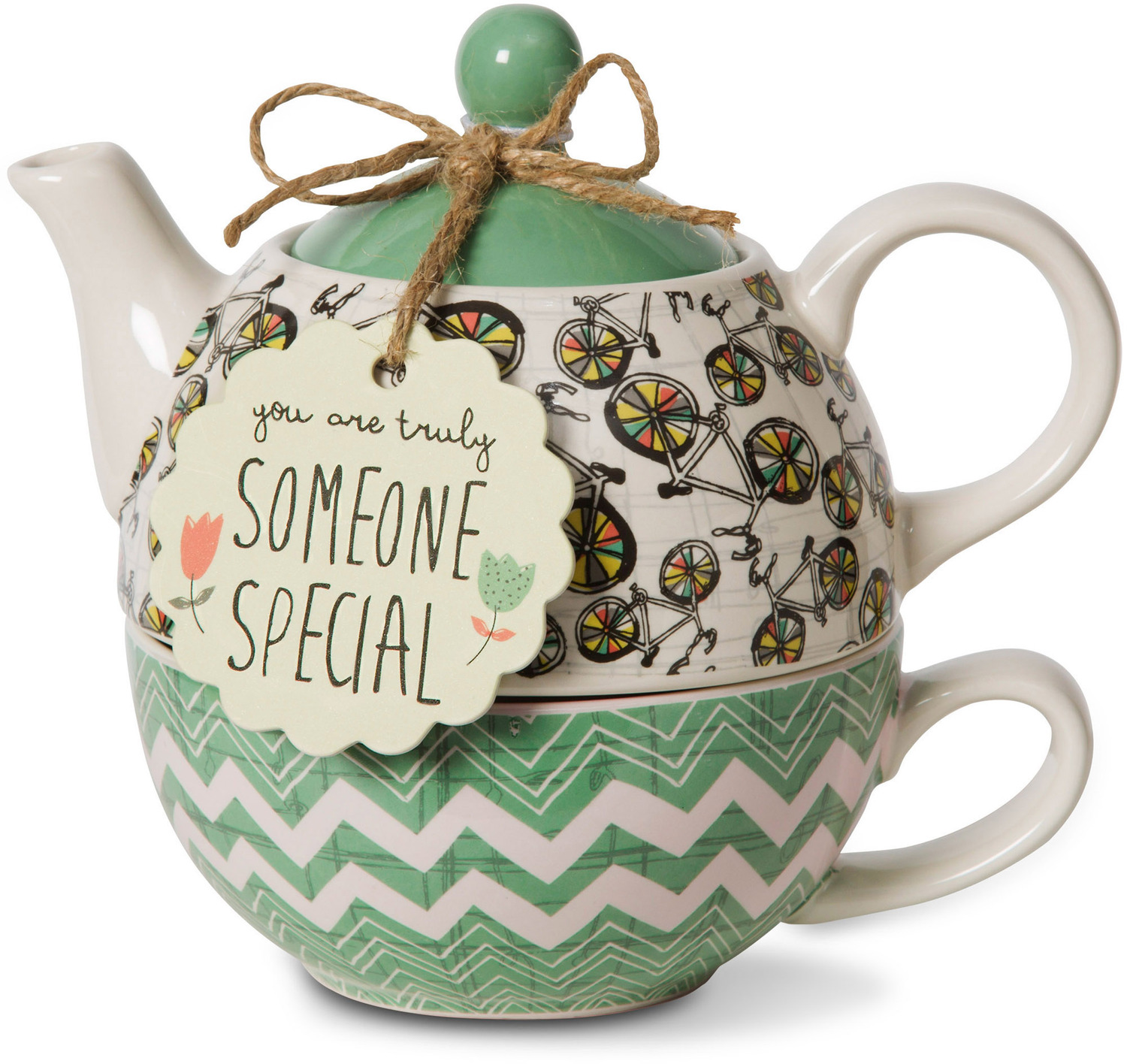 Someone Special by Bloom by Amylee Weeks - <em>Special</em> - Teapot & Cup Combo -