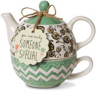 Someone Special by Bloom by Amylee Weeks - 15 oz. Teapot & 8 oz Cup