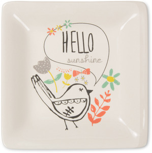 "Hello by Bloom by Amylee Weeks - 4.5"" Ceramic Keepsake Dish"