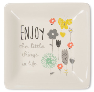 "Enjoy the Little Things by Bloom by Amylee Weeks - 4.5"" Ceramic Keepsake Dish"