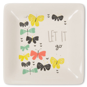 "Let it Go by Bloom by Amylee Weeks - 4.5"" Ceramic Keepsake Dish"