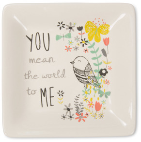 "World to Me by Bloom by Amylee Weeks - 4.5"" Ceramic Keepsake Dish"