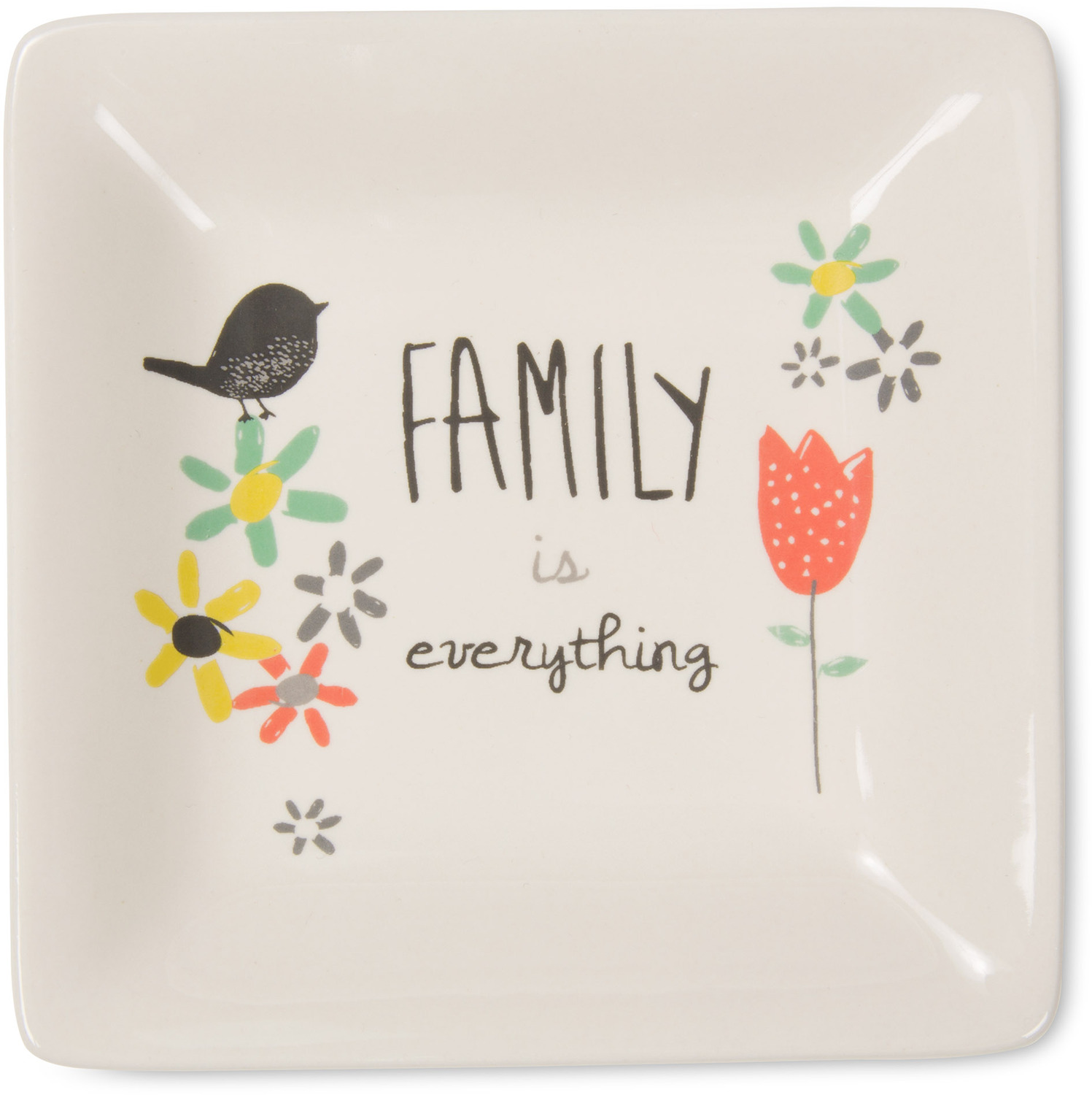 "Family by Bloom by Amylee Weeks - Family - 4.5"" Ceramic Keepsake Dish"