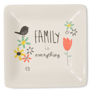 "Family by Bloom by Amylee Weeks - 4.5"" Ceramic Keepsake Dish"