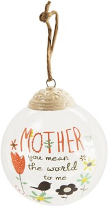 Mother by Bloom by Amylee Weeks - 80mm Glass Ornament