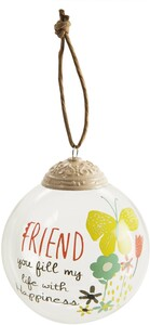 Friend by Bloom by Amylee Weeks - 80mm Glass Ornament