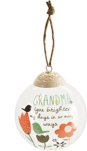 Grandma by Bloom by Amylee Weeks - 80mm Glass Ornament
