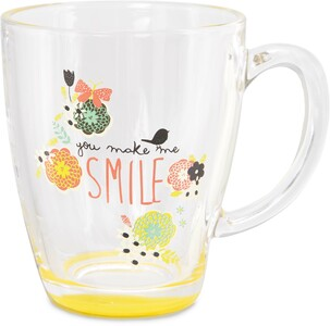 Smile by Bloom by Amylee Weeks - 12.5oz Glass Cup