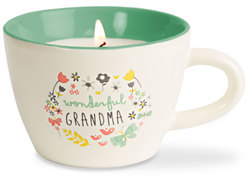Grandma by Bloom by Amylee Weeks - 5.7 oz. Soy Wax Teacup Candle Scent: Serenity