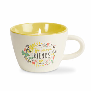 Forever Friends by Bloom by Amylee Weeks - 5.7 oz. Soy Wax Teacup Candle Scent: Serenity