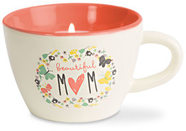 Mom by Bloom by Amylee Weeks - 5.7 oz. Soy Wax Teacup Candle Scent: Serenity