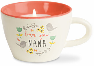 Nana by Bloom by Amylee Weeks - 5.7 oz. Soy Wax Teacup Candle Scent: Serenity