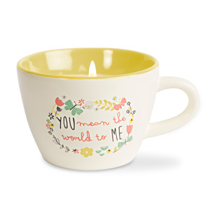 World to Me by Bloom by Amylee Weeks - 5.7 oz. Soy Wax Teacup Candle Scent: Serenity