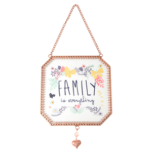 "Family by Bloom by Amylee Weeks - 5"" x 5"" Glass Sun Catcher"