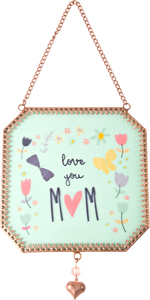 "Mom by Bloom by Amylee Weeks - 5"" x 5"" Glass Sun Catcher"