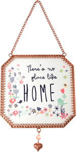 "Home  by Bloom by Amylee Weeks - 5"" x 5"" Glass Sun Catcher"