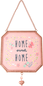 "Home Sweet Home by Bloom by Amylee Weeks - 5"" x 5"" Glass Sun Catcher"