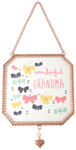 "Grandma by Bloom by Amylee Weeks - 5"" x 5"" Glass Sun Catcher"