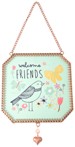 "Friends by Bloom by Amylee Weeks - 5"" x 5"" Glass Sun Catcher"