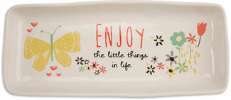 "Enjoy Life by Bloom by Amylee Weeks - 11"" x 4.5"" Tray"
