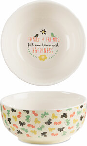 "Family & Friends by Bloom by Amylee Weeks - 2.75""x 6"" Ceramic Bowl"