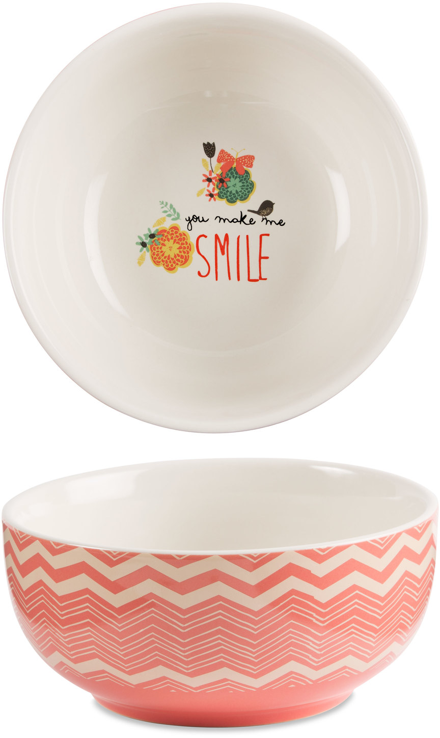 "Smile by Bloom by Amylee Weeks - Smile - 2.75""x 6"" Ceramic Bowl"