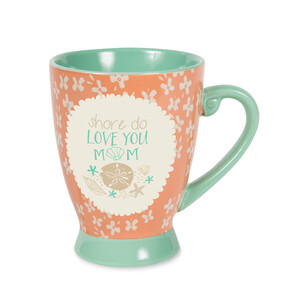 Mom by Seaside Bloom - 18 oz Cup