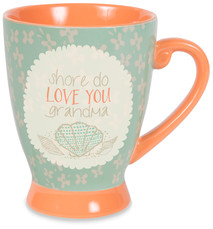 Grandma by Seaside Bloom - 18 oz Cup