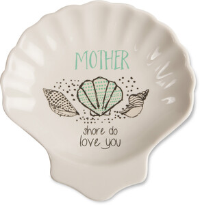 "Mother by Seaside Bloom - 4"" Keepsake Dish"