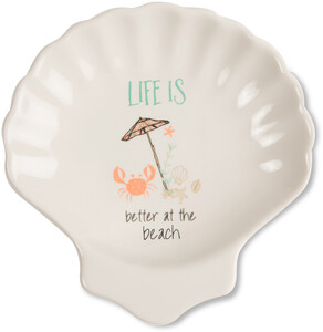"Beach by Seaside Bloom - 4"" Keepsake Dish"