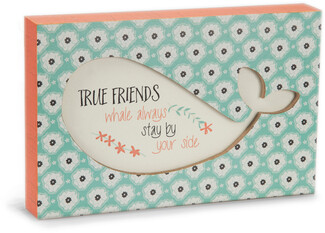 "Friends by Seaside Bloom - 7"" x 4.5"" Plaque"
