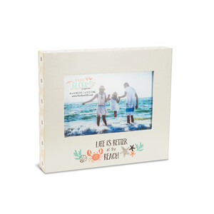 "Life by Seaside Bloom - 7.75"" x 6.75"" Frame (Holds 6"" x 4"" Photo)"