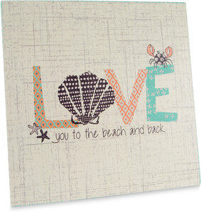 "Love by Seaside Bloom - 9"" Canvas Plaque"