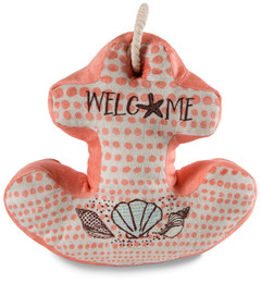 "Welcome by Seaside Bloom - 11.5"" x 11"" Anchor Door Stopper"