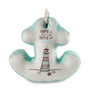 "Home by Seaside Bloom - 11.5"" x 11"" Anchor Door Stopper"
