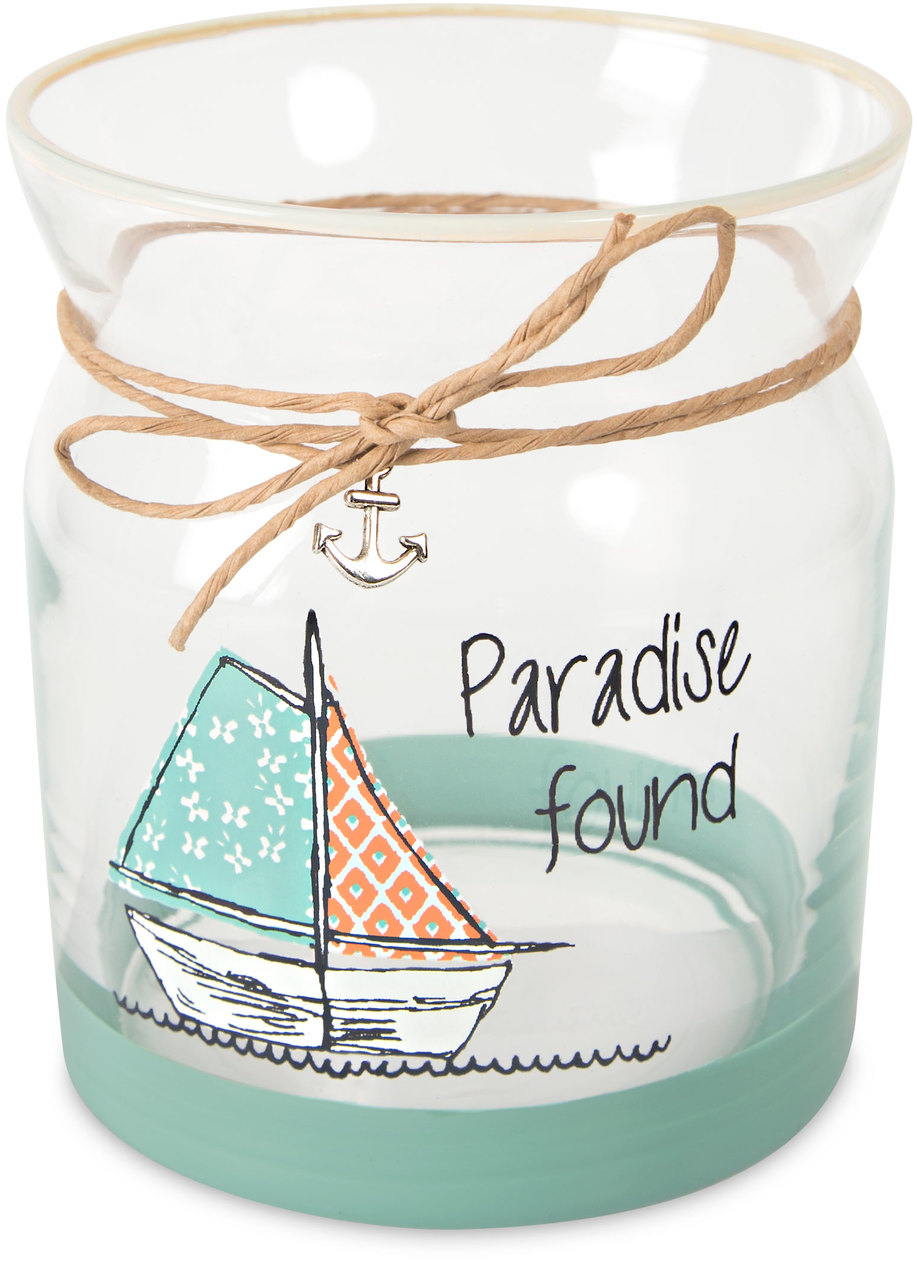 "Paradise by Seaside Bloom - Paradise - 4"" Glass Tea Light Holder"