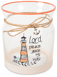 "Guide My Way by Seaside Bloom - 4"" Glass Tea Light Holder"