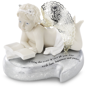 "Word of God by Little Things Mean A Lot - 3.5"" Cherub Reading Book"