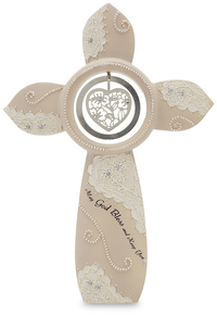 "May God Bless and Keep You by Little Things Mean A Lot - 7"" Self Standing Cross"