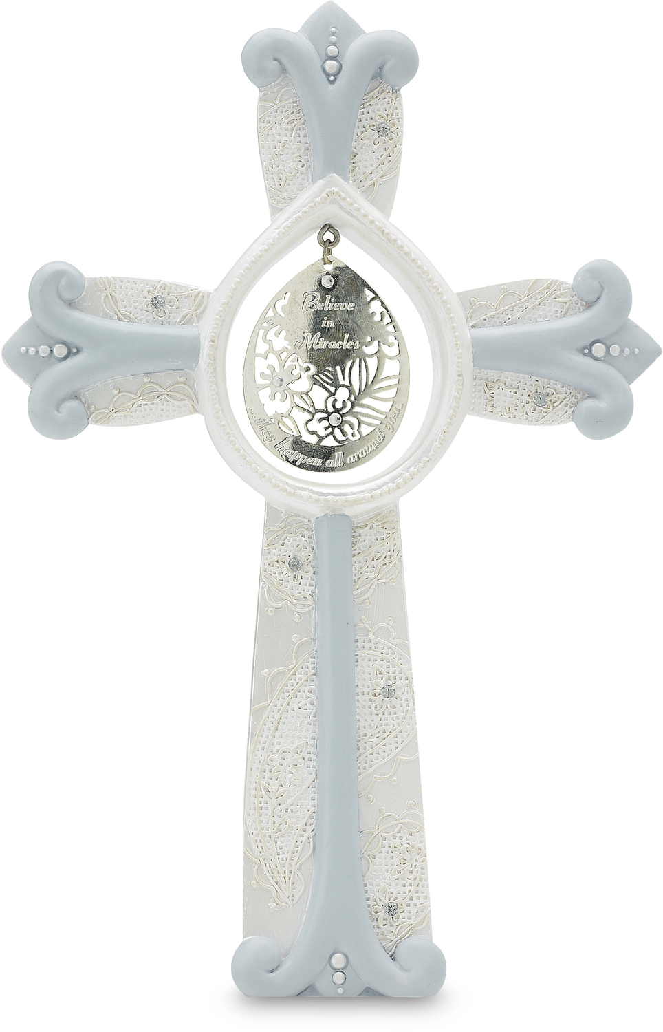"Miracles by Little Things Mean A Lot - Miracles - 7.25"" Self Standing Cross"