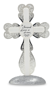 "Friend by Little Things Mean A Lot - 7"" Self Standing Cross"
