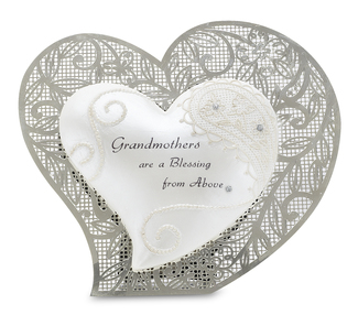 "Grandmother by Little Things Mean A Lot - 4.5"" Self Standing Heart"